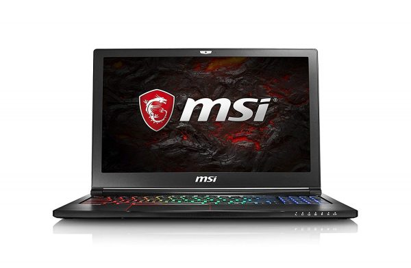 لپ تاپ استوک گیمینگ ام اس آی 15.6اینچ MSI GS63VR با پردازنده Core i7 نسل ششم هارد 128گیگابایت SSD و1ترابایت SATA