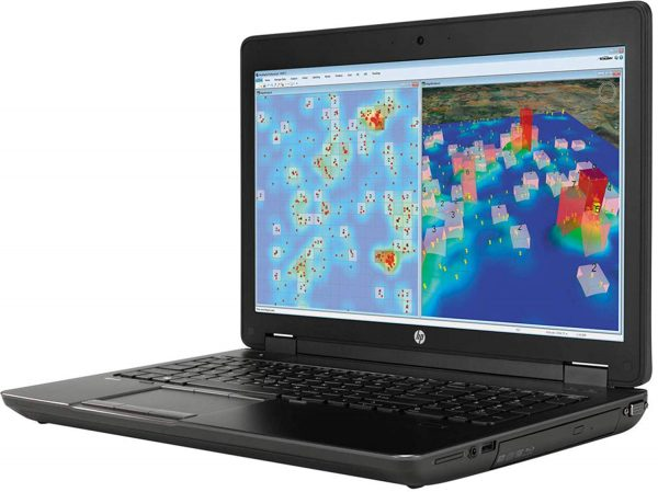 لپ تاپ صنعتی استوک اروپایی 17.3 اینچی اچ پی زدبوک مدل HP Zbook17 با پردازنده Core i7 نسل چهارم و 8 گیگ گرافیک k5100