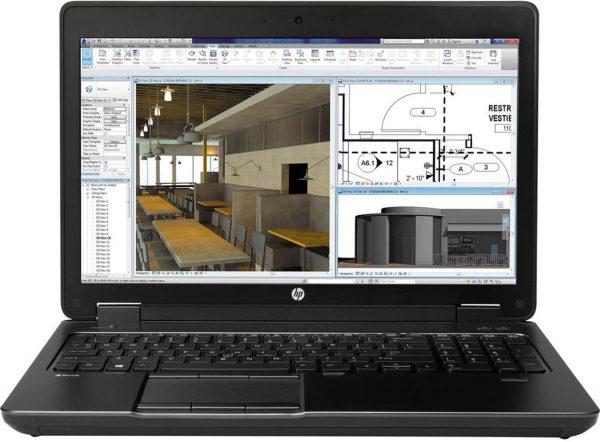 لپ تاپ صنعتی استوک اروپایی 15.6 اینچی اچ پی زدبوک مدل HP Zbook15 G2 با پردازنده Core i7 4810mq نسل چهارم کارت گرافیک دو گیگ k2100